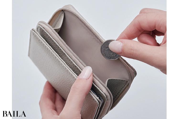 BAILA×ドゥーズィエム クラスのミニ財布:こだわり3