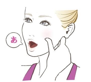 【顔筋ほぐし】2:筋肉の動きを感じながら「あぐあぐ」と口を大きく動かす