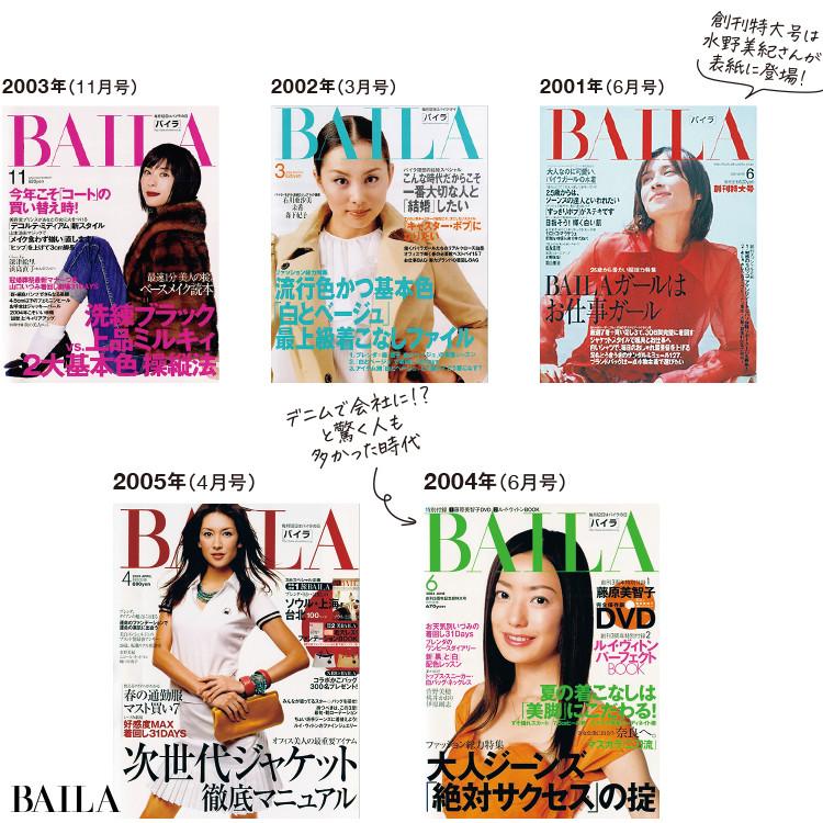 BAILA表紙2001-2005