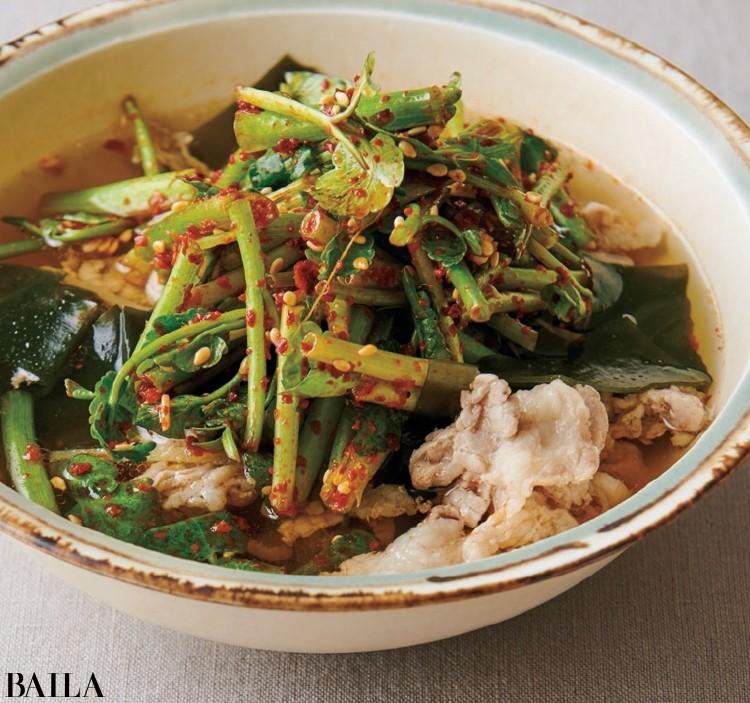 【温野菜レシピ】体を温めて免疫力アップ「セリのナムル風スープ」_1