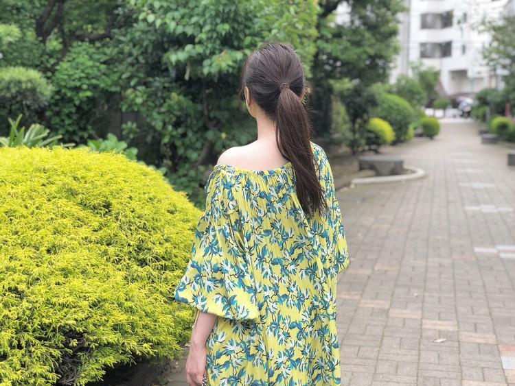 BAILA6月号を参考に♡柄ワンピース×フラットシューズコーデ_6