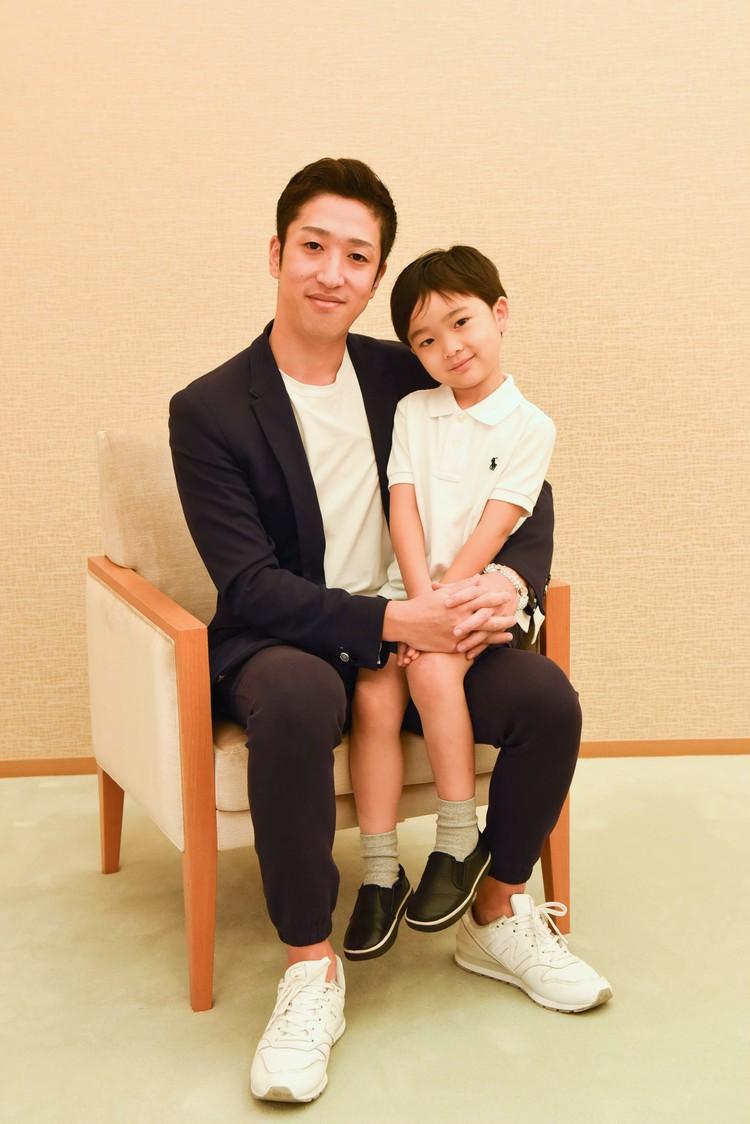 中村梅枝さんと大晴くん親子写真