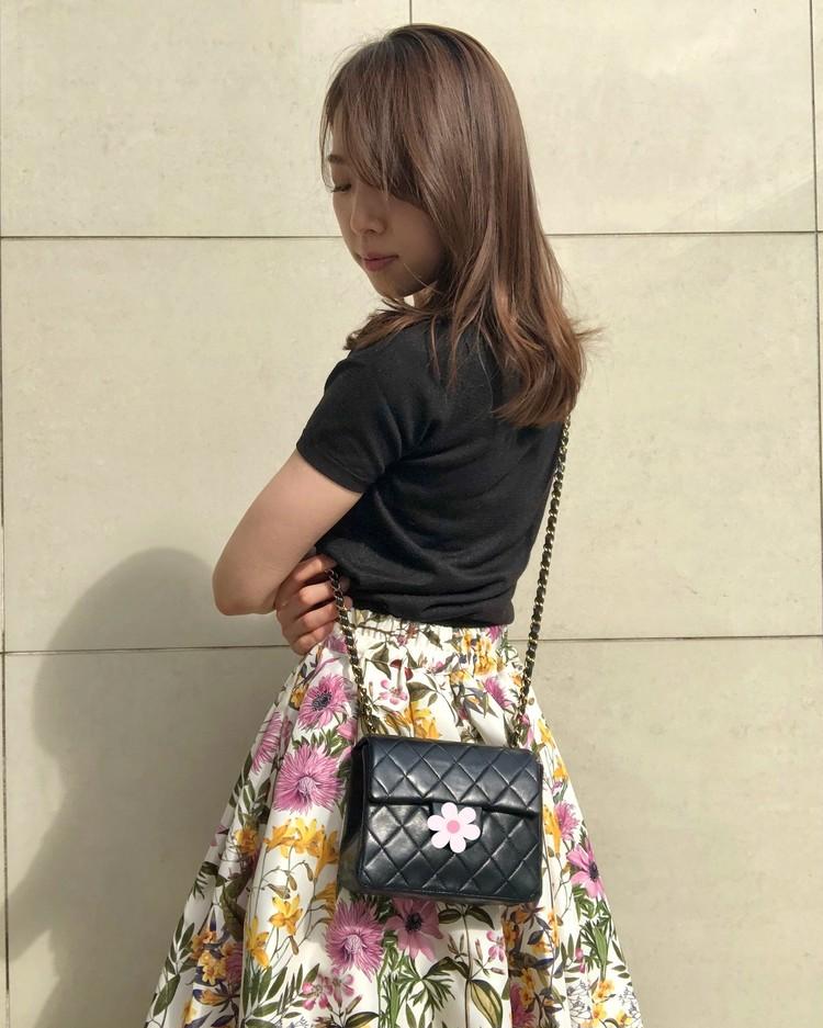 ネットでポチった【あがる⤴花柄スカート】をはいて久々の外出!_4