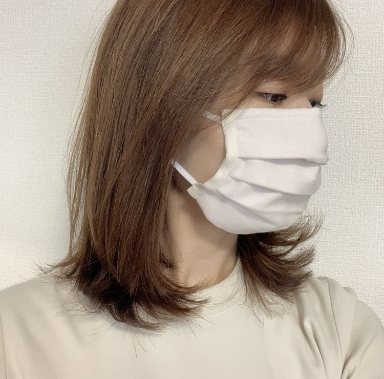 お肌に優しい♡オーガニックコットン100%の布マスク_2