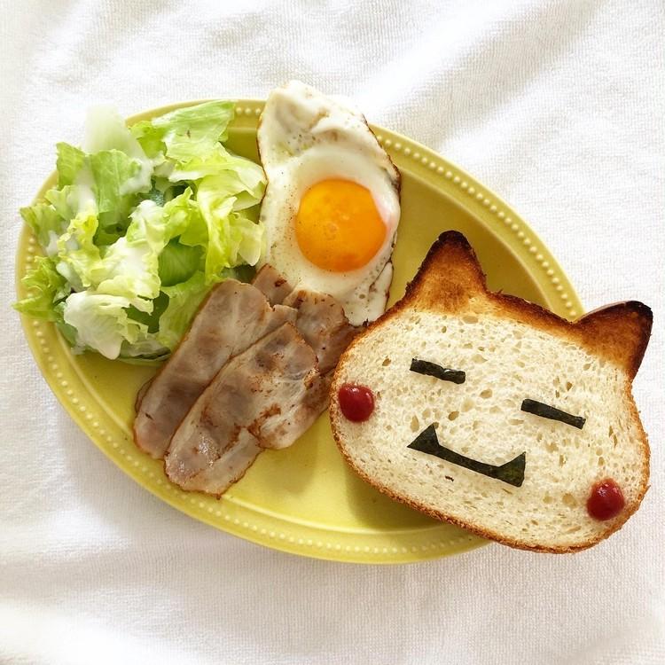 人気のねこねこ食パンをアレンジしてみた♡_4