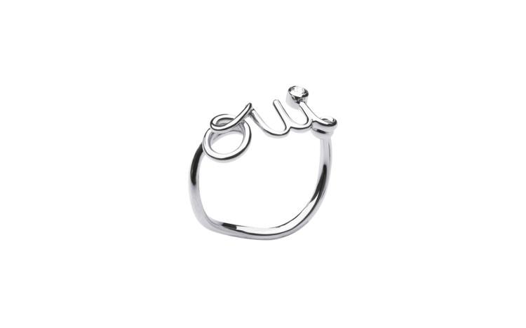 「Oui」リング(18KHG×ダイヤモンド)¥123520/クリスチャン ディオール(ディオール)