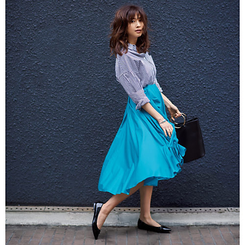 今週も乗り切るために♡ 着やせ&美女感UPの【きれい色スカート】スタイル5_9