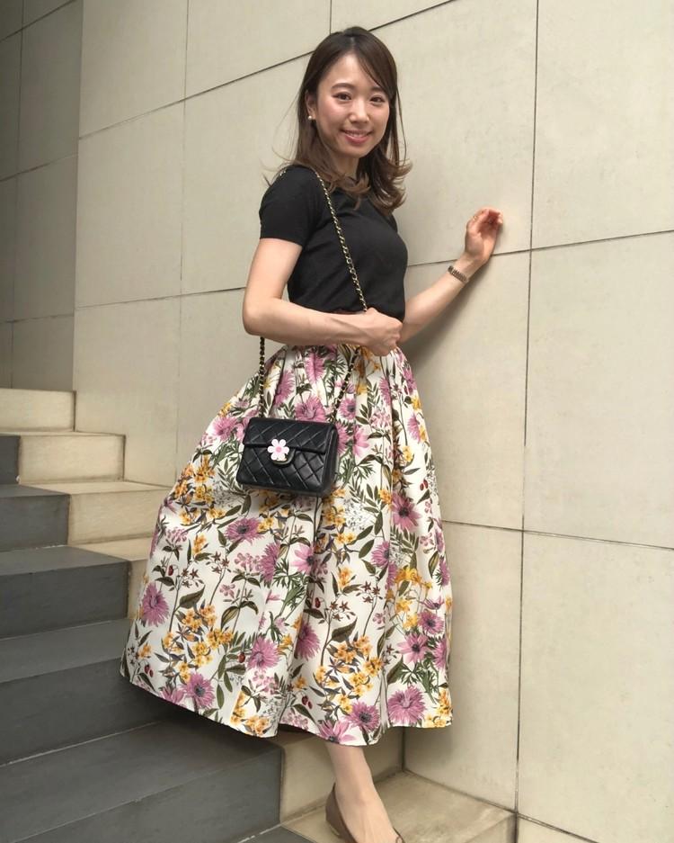 ネットでポチった【あがる⤴花柄スカート】をはいて久々の外出!_3