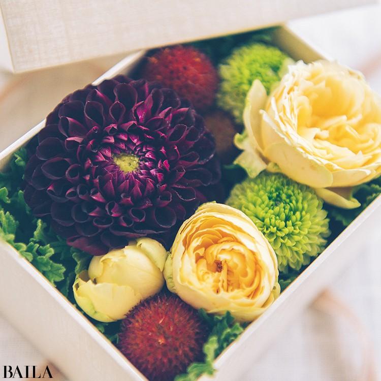 秋色の花々を箱詰めにして小さな贈り物【カトパンのあえて小さく飾る花レッスン】_4