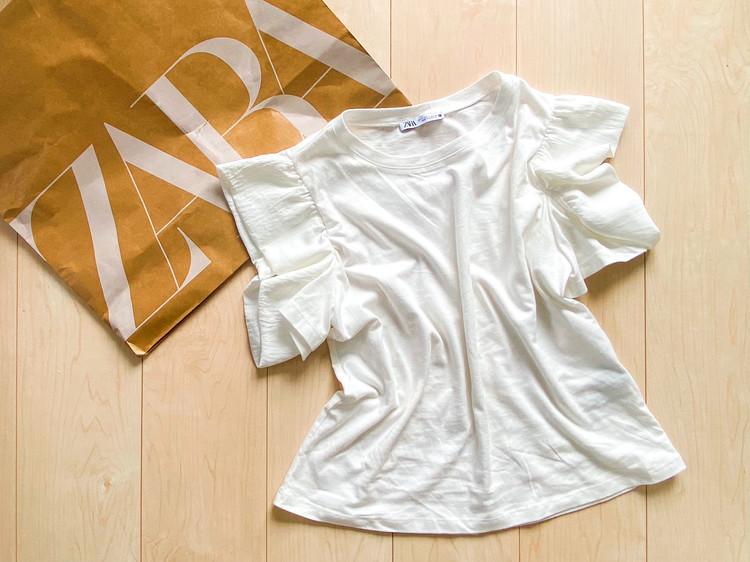 \ZARA/着心地もデザインも文句なしの袖コンTシャツ_1