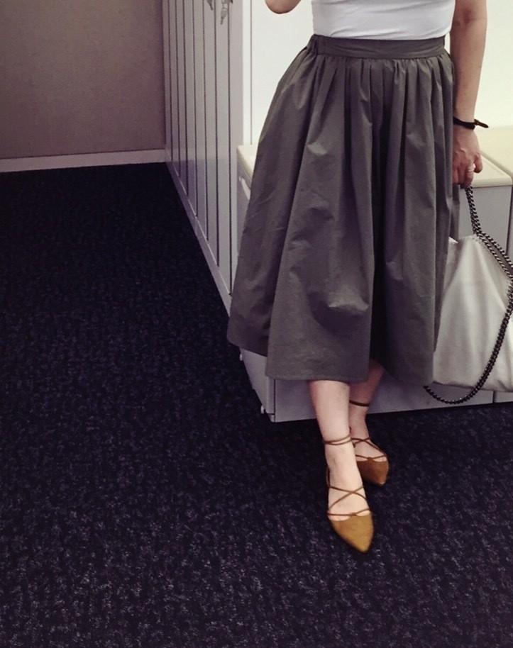白T着る日の「タイプライタースカート」_3