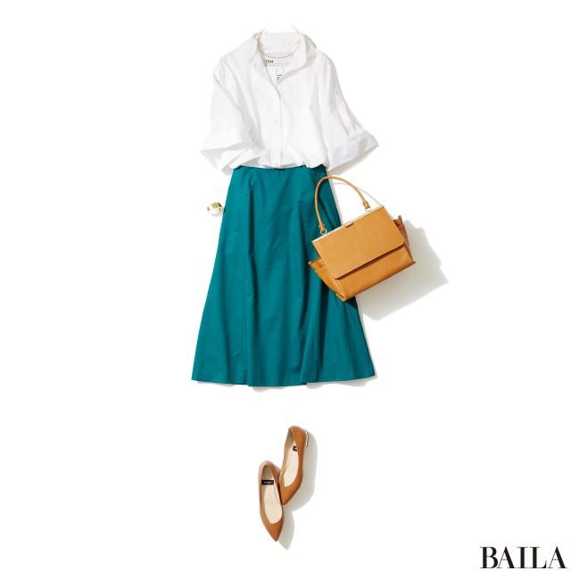 今週も乗り切るために♡ 着やせ&美女感UPの【きれい色スカート】スタイル5_2_4
