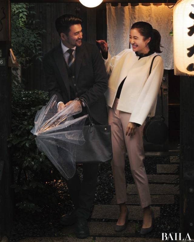 仕事帰りにデートに行く日は、白&ピンクの大人の可愛げスタイル【2018/11/30のコーデ】_1
