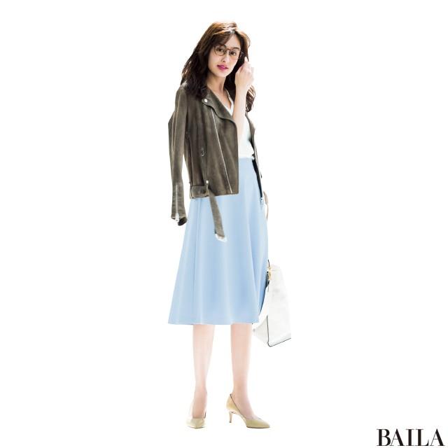 今週も乗り切るために♡ 着やせ&美女感UPの【きれい色スカート】スタイル5_2_3