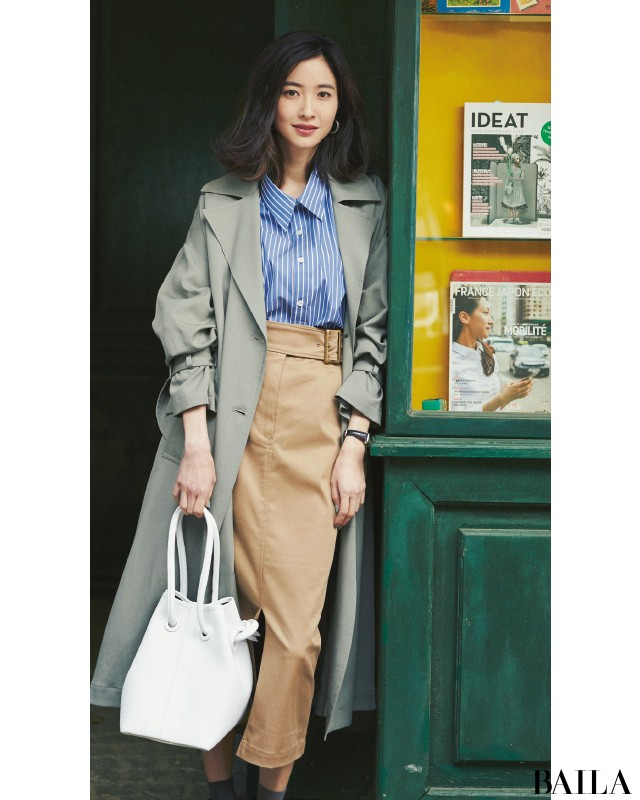 人前に立つ日は、知的シャツ&好感度スカートでキリリとスタイル♡【2019/3/13のコーデ】_1