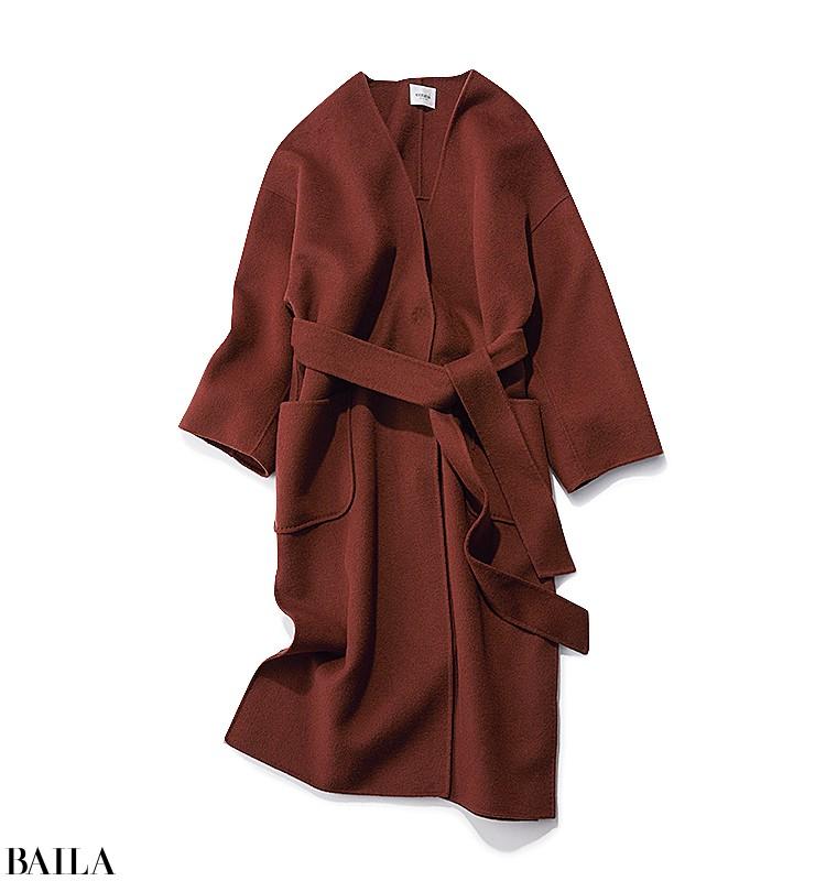外回りの日は、コートを着ても脱いでも美人見えするカラーonカラーコーデ【2019/12/6のコーデ】_2_1