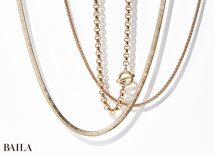 ローラ ロンバルディ Necklace(右から)¥16500・¥22000・13200