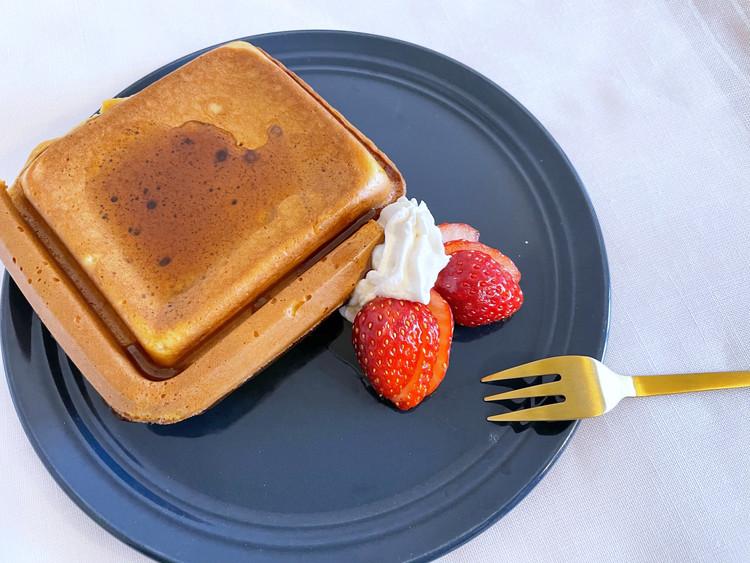 【家事ヤロウ】SNSで話題のホットパンケーキを作ってみた♡_5