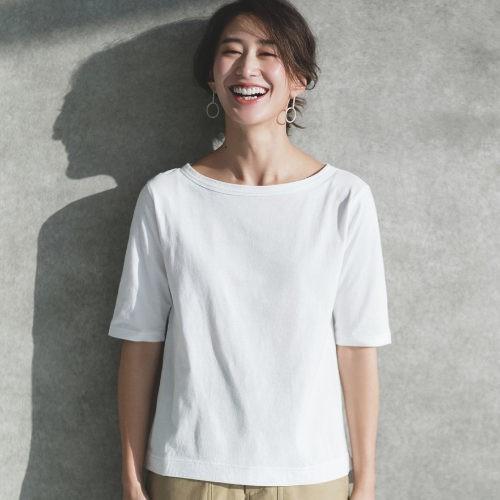 忙しい日は、ミニマルな白コーデに今っぽいシャツワンピをはおって!【2019/4/18のコーデ】_3