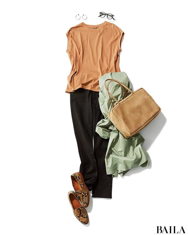 楽ちんでおしゃれ! 使える旬Tシャツで、夏は毎日洗練コーデ【30代の着回し1週間コーデ】_1_8