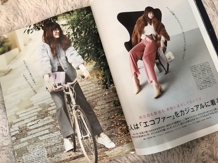 きれい色の【エコファーコート】はこう着る♡_3
