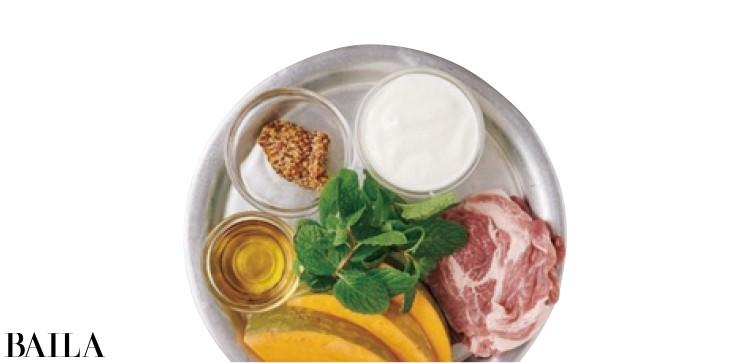 【温野菜レシピ】自然な甘み&爽やかソース「かぼちゃと豚肉のミントクリームソース 」_2