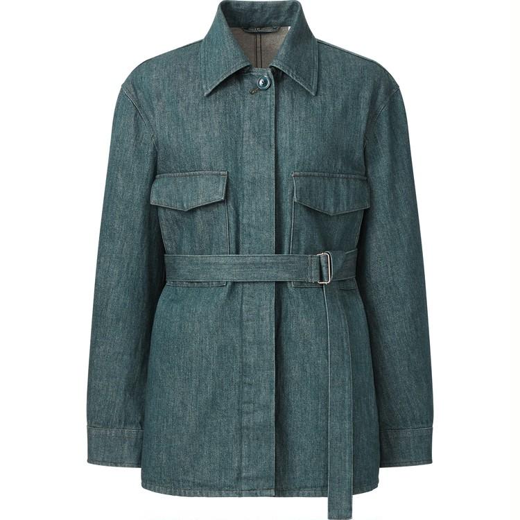 デニムシャツジャケット セットアップ可能 ¥6,990