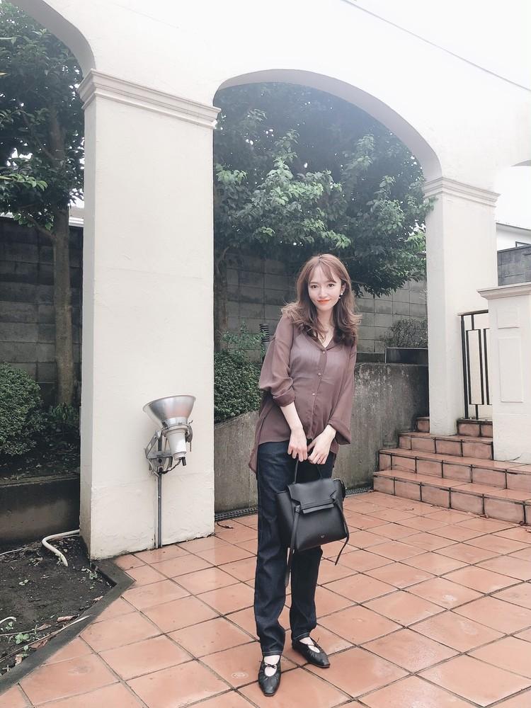 【BAILA 10月号】秋の透けブラウンコーデ♡_8