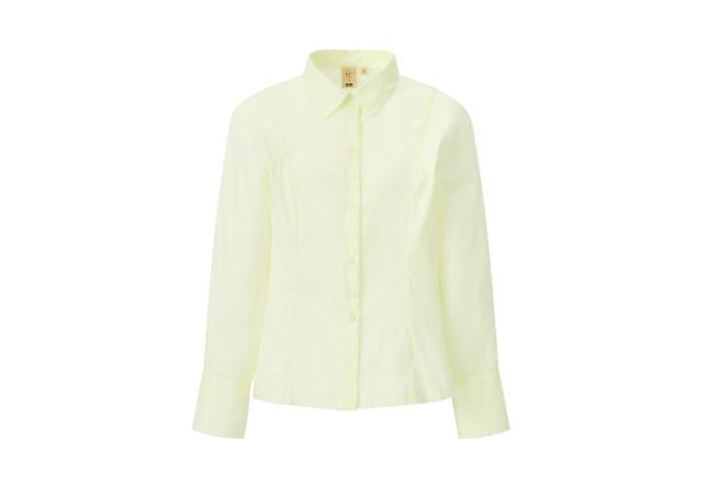 ユニクロ<HANA TAJIMA>2021春夏コレクション コットンシャツ イエロー