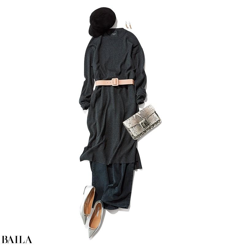 洗練の着こなしに着映えコート&ニットを!【30代の着回し1週間コーデ】_1_4