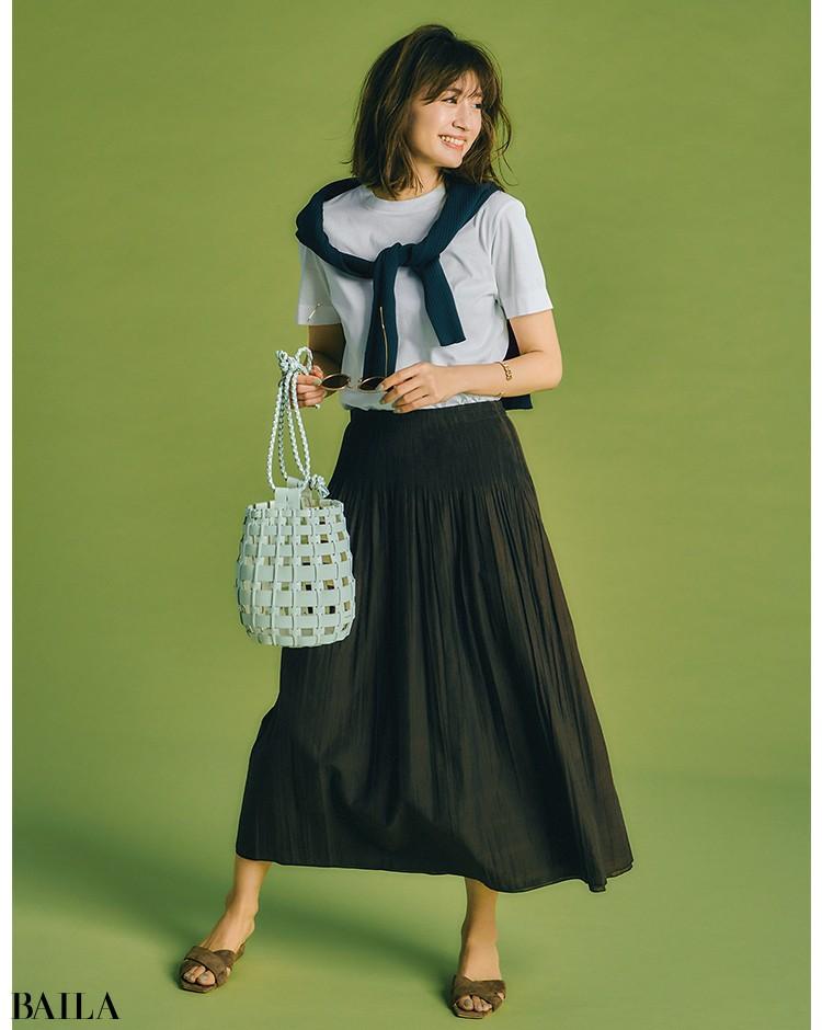 リバーシブルで2倍楽しい フェミニンスカート