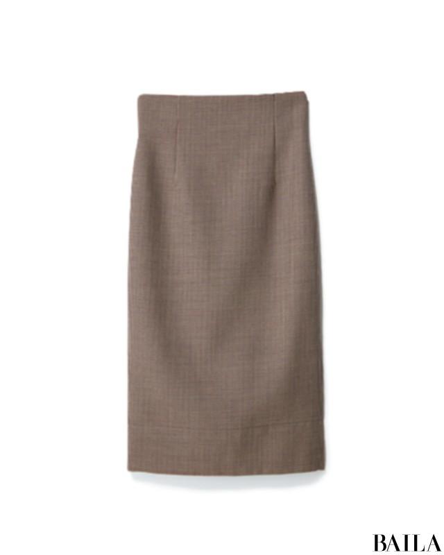 時間がない朝は、定番タートルに旬スカートのしゃれたお手軽コーデ!【2018/10/29のコーデ】_2_2