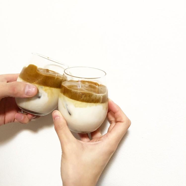 SNSで話題‼︎韓国で大人気のダルゴナコーヒーを作ってみた_4