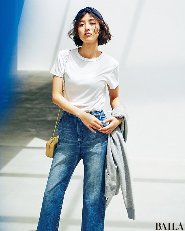 【30代の白Tシャツ】今どき・しゃれ感・着やせハットトリックコーデ9連発_1_9