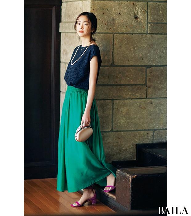 【結婚式やパーティの参考に】桐谷美玲が魅せるメリハリ上手な「ドレスアップ」_1