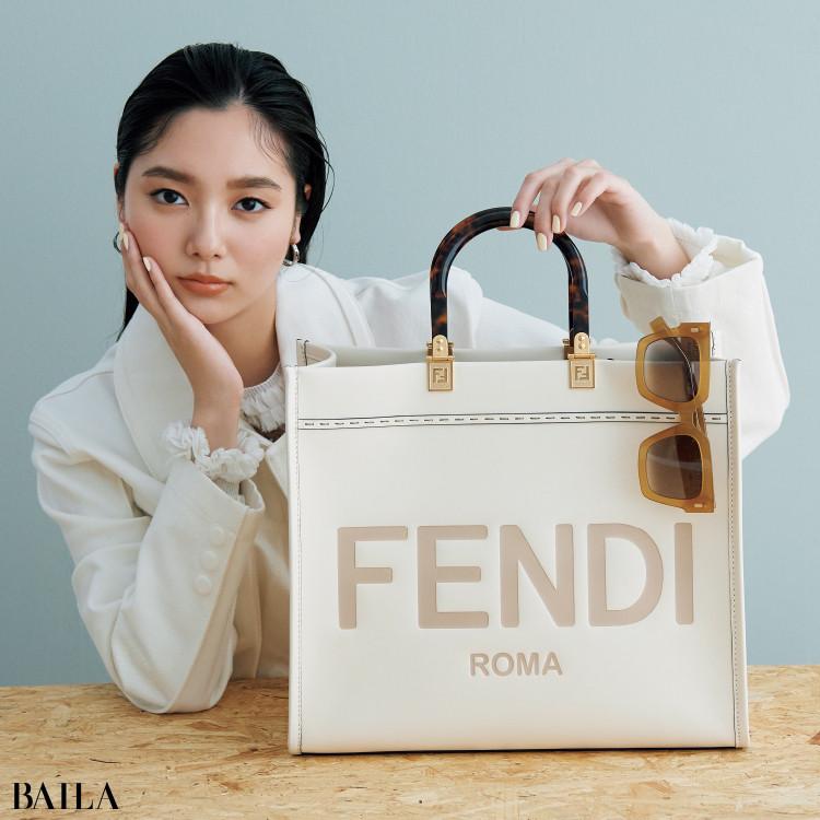 フェンディのバッグ「サンシャイン ショッパー ミディアム」と新川優愛