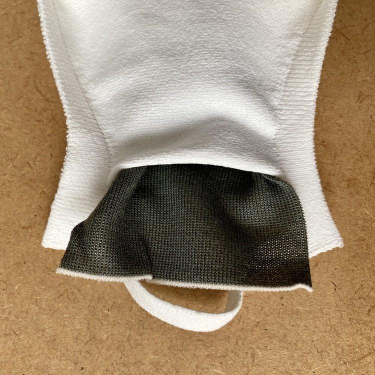 マスクの内側にスリットポケットがあり、銅シートを挿入