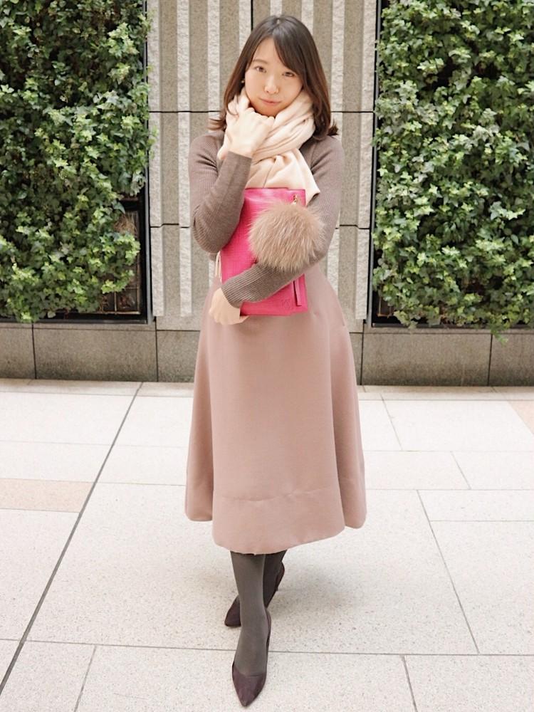 まろやかブラウンコーデ>>モカ×くすみピンクをで女っぽく。_3