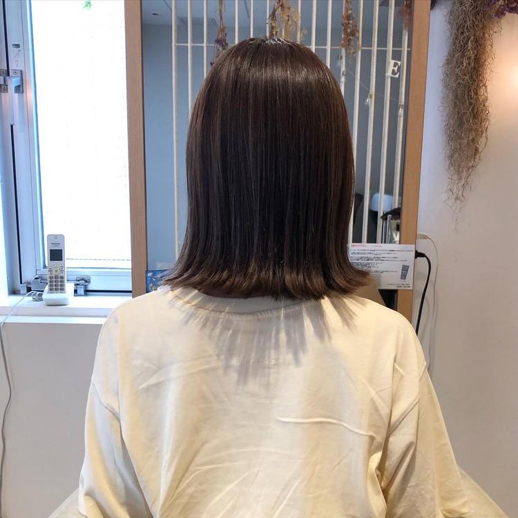 夏にオススメ‼︎暗髪なのに透明感ある涼しげヘアカラー_3
