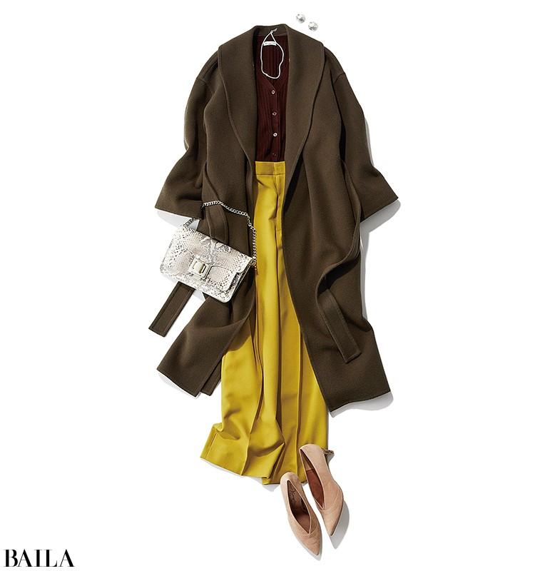 英会話レッスンに行く日は、今期らしいこっくり色コートにチアフルカラーパンツ加えて【2019/11/8のコーデ】_1