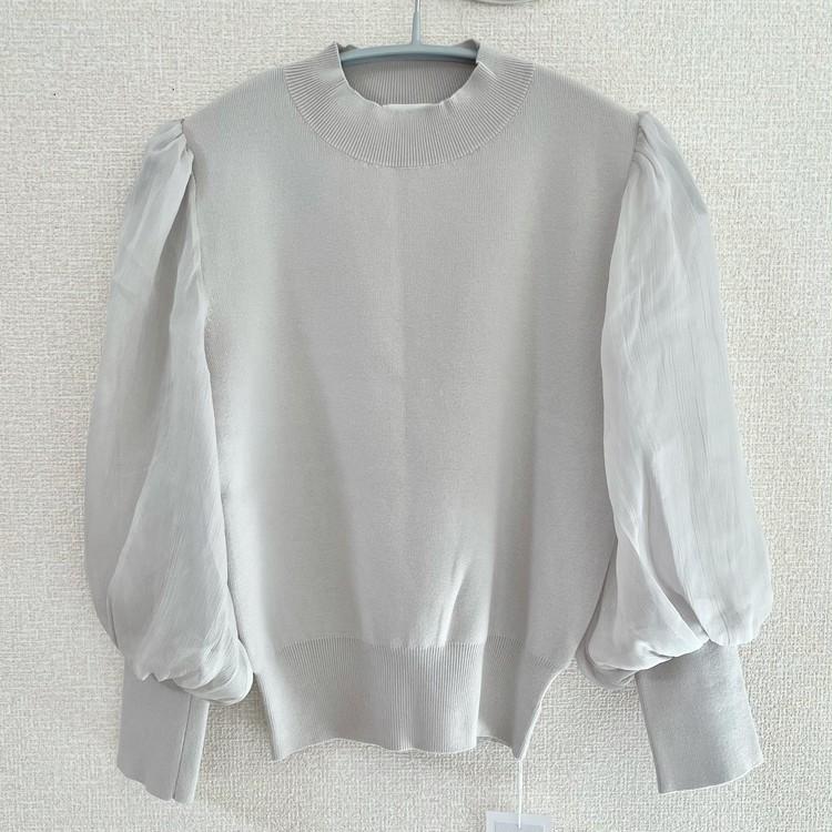 ①シアースリーブニット/¥12,980