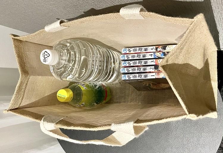 【ダイソー】エコバッグとしても使えるおしゃれジュートトートバッグが優秀♡  _15