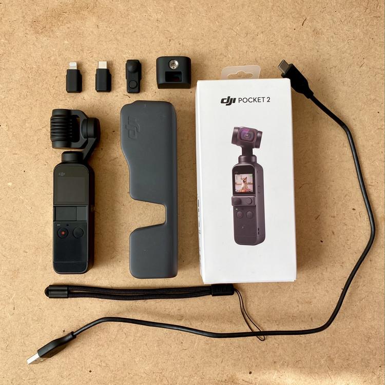 【超人気「DJI Pocket 2」使ってみた】動画ド素人がジンバルつき小型4KカメラでVlog作成に初挑戦レポート キットの中身