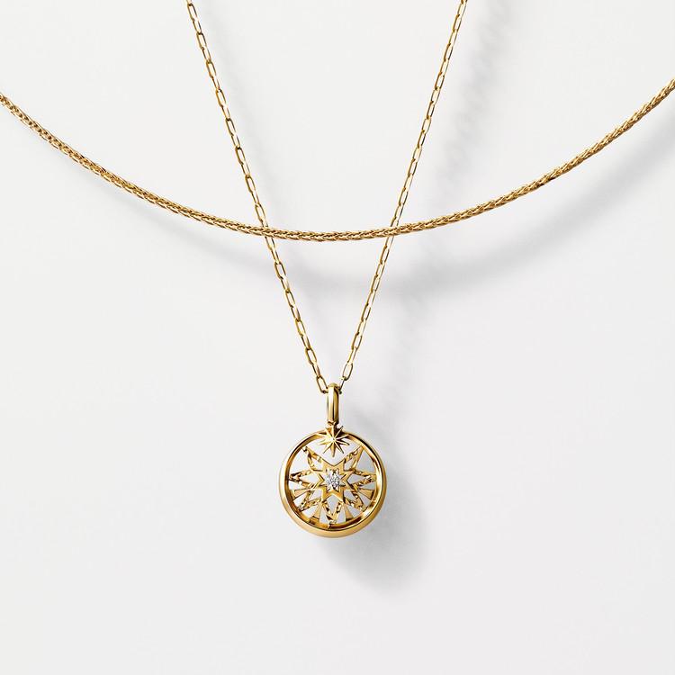 【スタージュエリー】チャーム×チェーンセット(K10YG/ダイヤモンド)¥45000