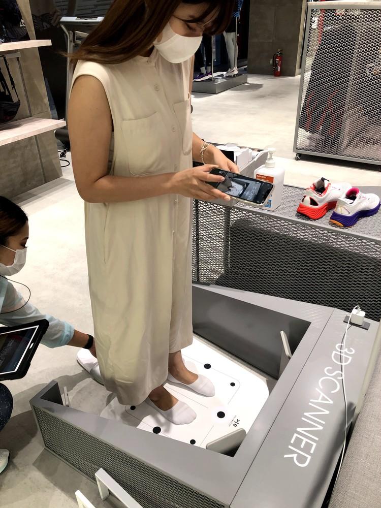 ニューバランス名古屋店の3Dスキャンを体験