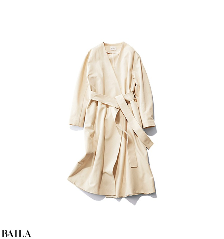 急いで出勤する朝は、春らしいワンピ&コートの女っぽスタイル!【2020/3/31のコーデ】_2_2