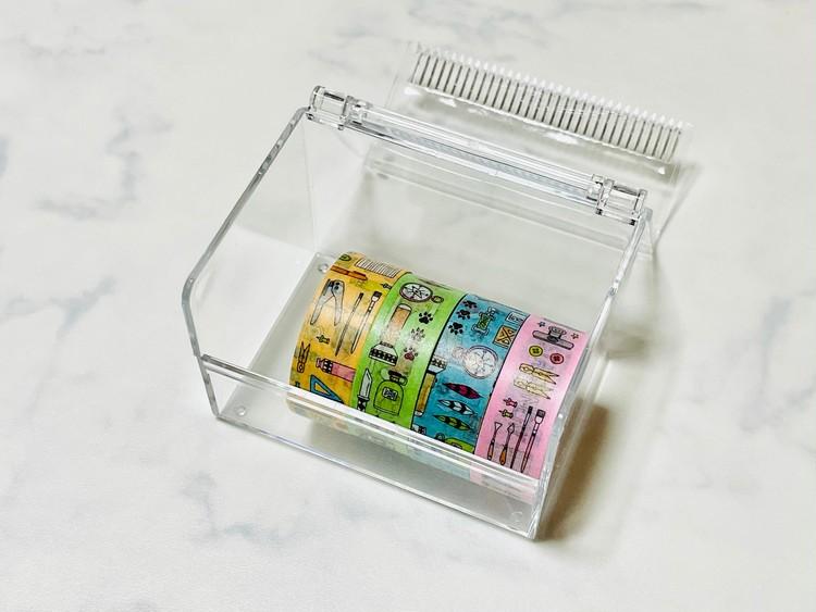 【ダイソー便利グッズ3】マスキングテープケースにマステを入れて見た画像