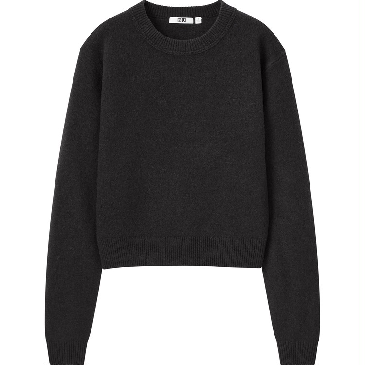 プレミアムラムクロップドセーター(長袖) ¥2,990