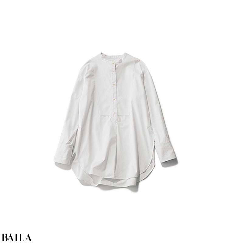 例年より暖かい冬の通勤は、白シャツ×パンツにロングコートのコーデで【2020/2/3のコーデ】_2_5
