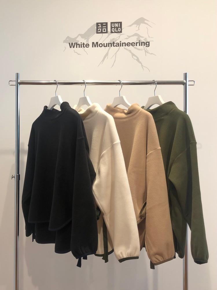 ユニクロコラボ、ホワイトマウンテニアリングのフリースオーバーサイズモックネックプルオーバー(長袖)フリースオーバーサイズモックネックプルオーバー(長袖)カラーバリエーション